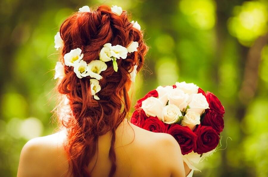 bouquet de noiva para casamento vermelho e branco
