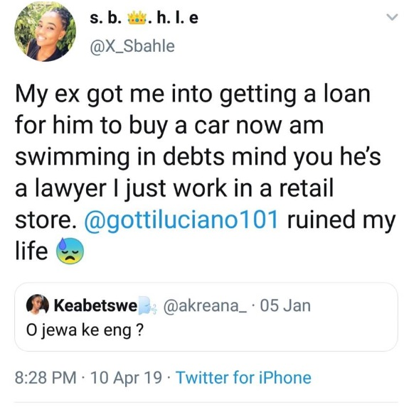 SEXY LADY cries on social media after she took a loan for her