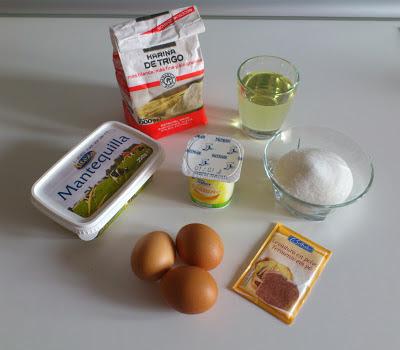 Ingredientes bizcocho de yogur