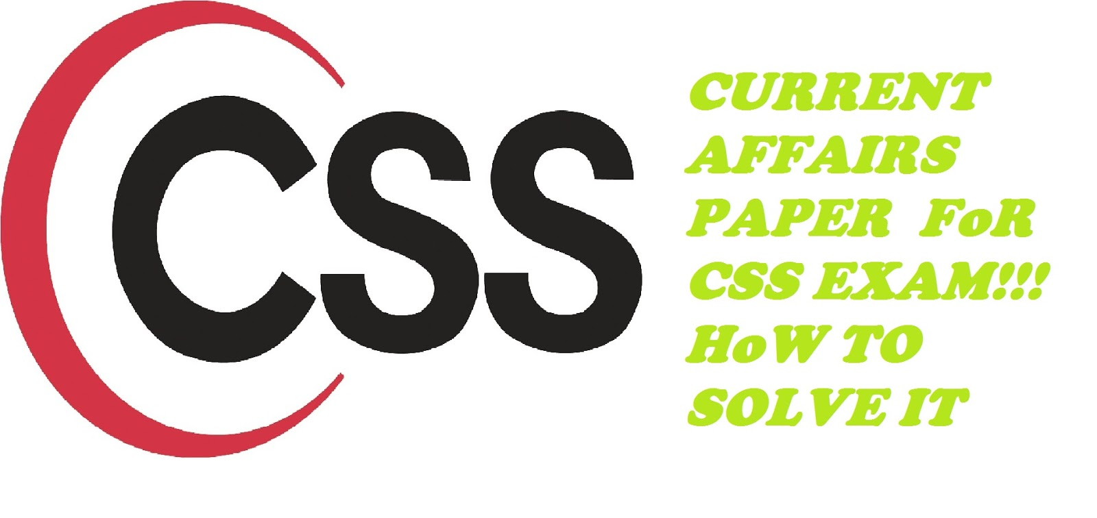 Current Affairs CSS Past Papers