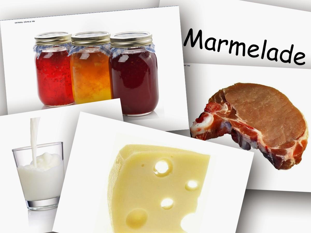 Bildkarten Lebensmittel 1 - DaZ Material für die Sprachförderung in der Grundschule