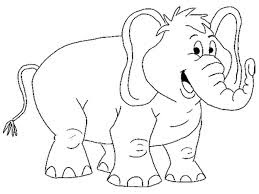 Baby  Elephant Coloring Sheet For Kids