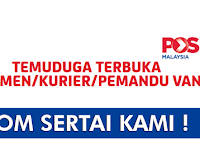Temuduga Terbuka Pos Malaysia Berhad - Kelayakan SPM | Terbuka