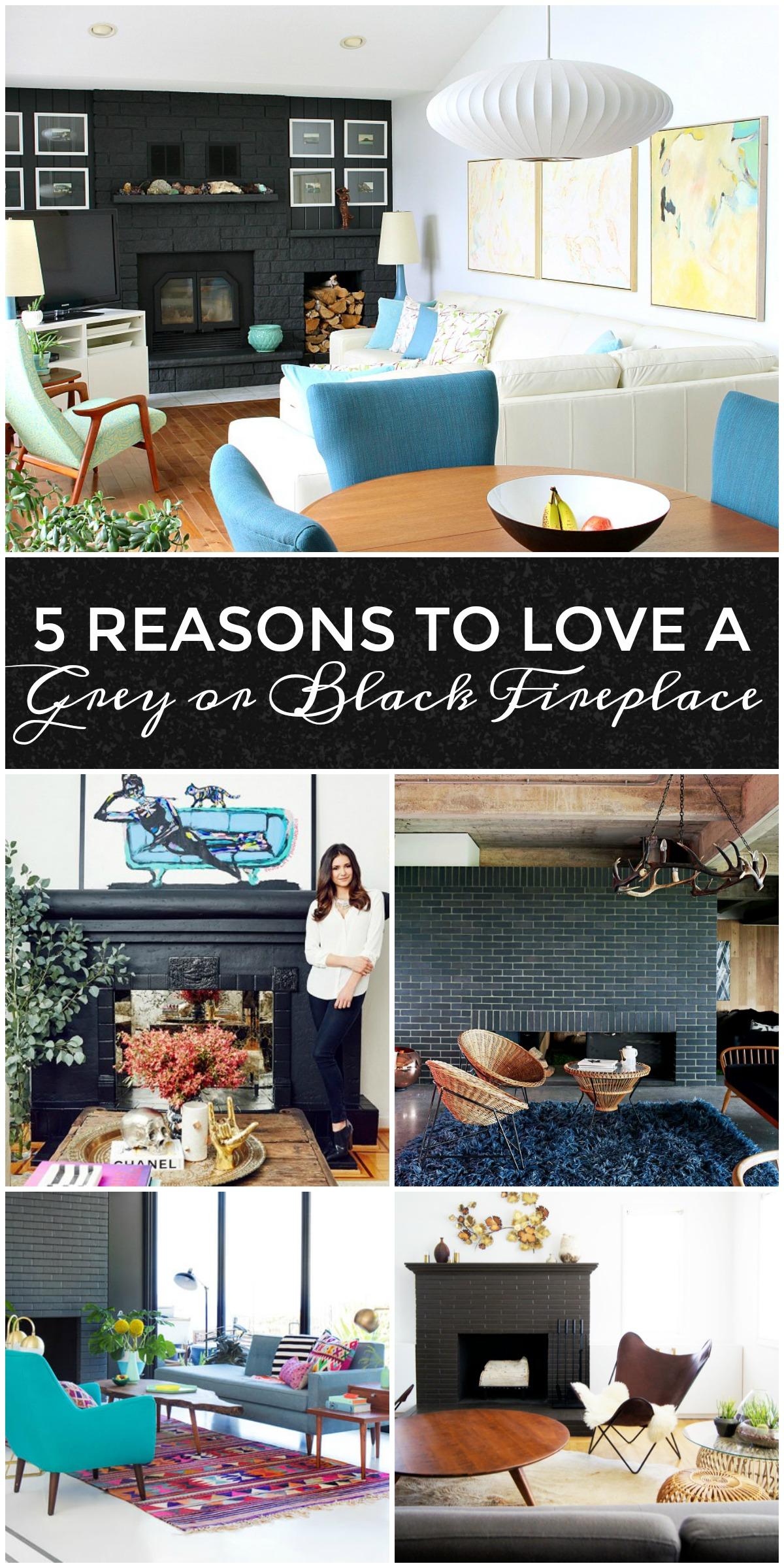 5 Reasons to Love a Dark Grey or Black Fireplace PLUS 10 Dark Fireplace to Love | www.danslelakehouse.com