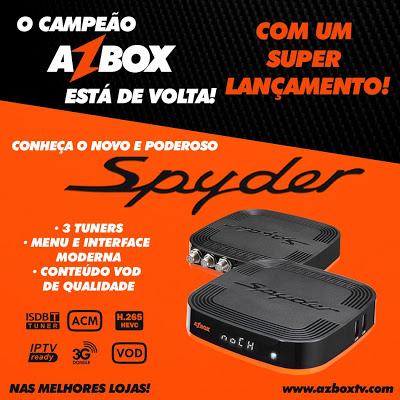 Resultado de imagem para AZBOX SPYDER COM 3 TUNERS