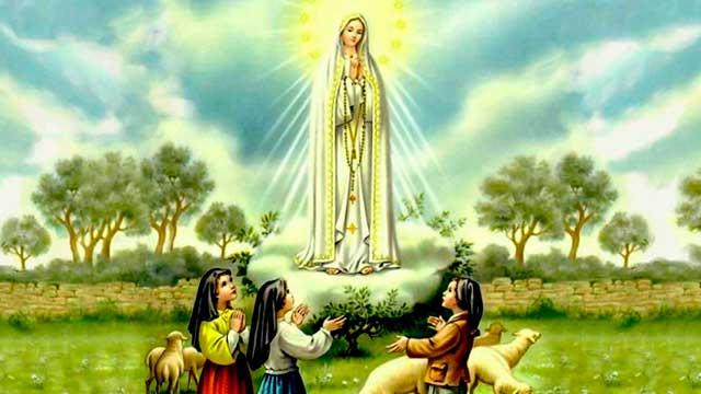 Nossa Senhora de Fátima e os Pastorinhos