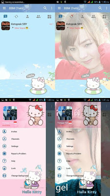 BBM Change Background with Hello Kitty