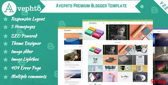 Avephto Blogger Template