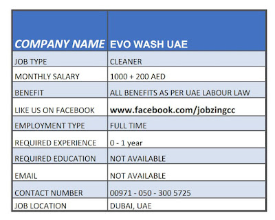 Cleaner Jobs Uae Gcc Jobz
