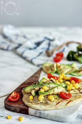 Tortilje sa ćuretinom i povrćem