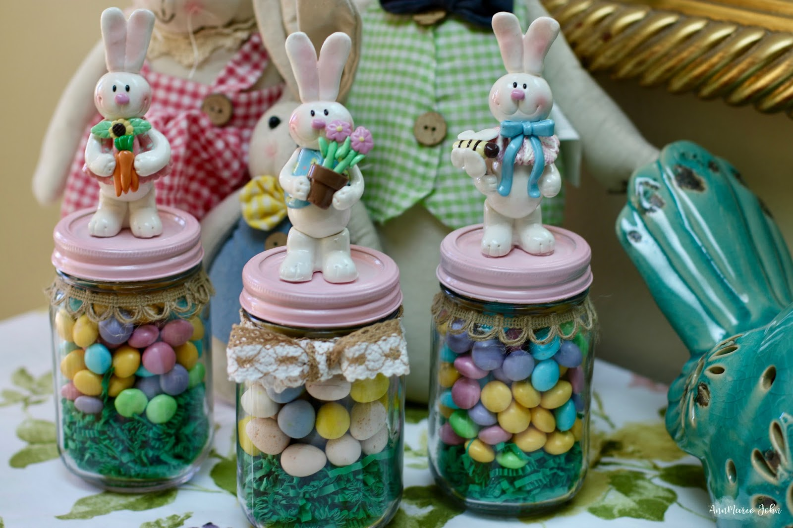 Easter bunny candy jar annmarie john can you believe that easter is only a few weeks away if youre looking for new easter traditions to incorporate into your family i shared some ways with negle Choice Image