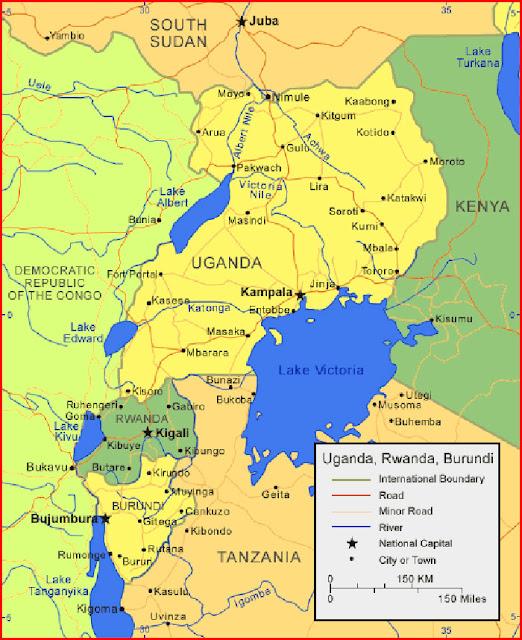 image: Map of Uganda