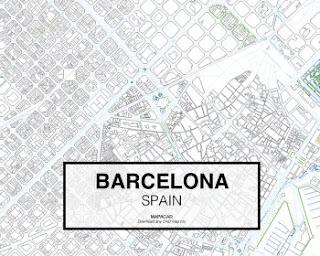 Mapa de la ciudad de Barcelona