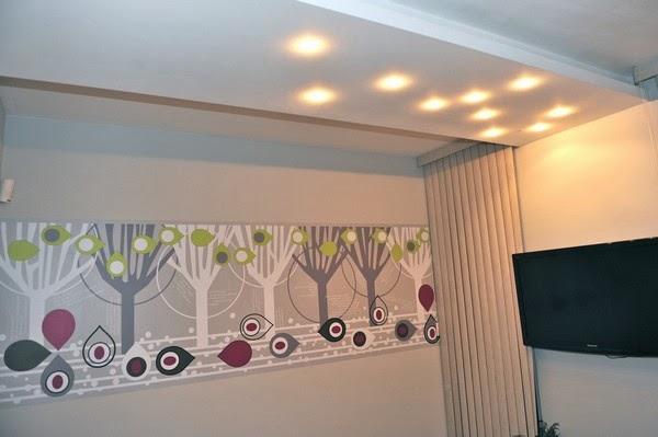 design de interiores de luxo Papel de parede no quarto