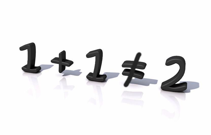 1 + 1 ≠ 2 ... خواطر للكاتب أحمد المُلّا على منصة تجربة