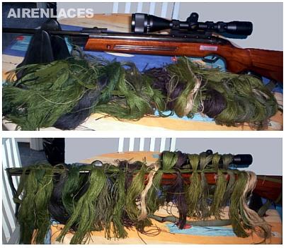 Camuflar rifle de aire