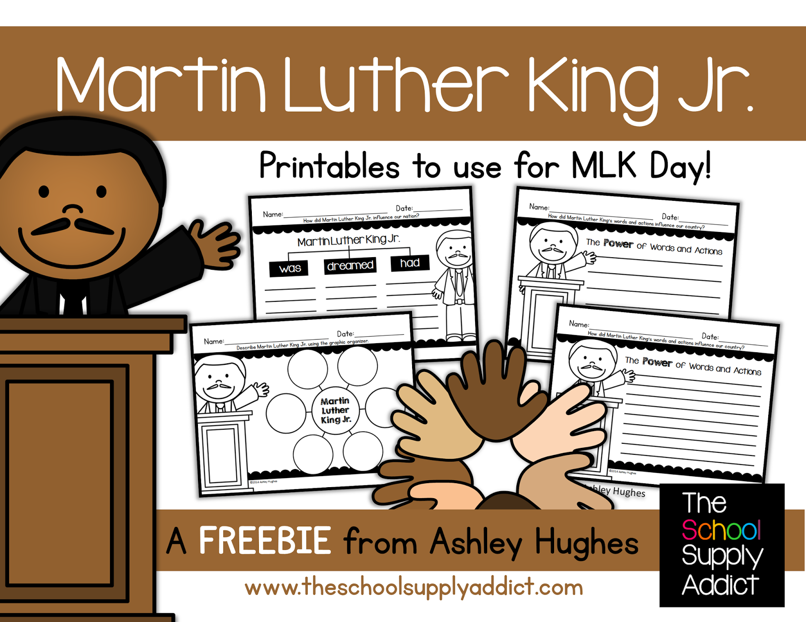 Martin Luther King Jr. Freebie from The School Supply Addict