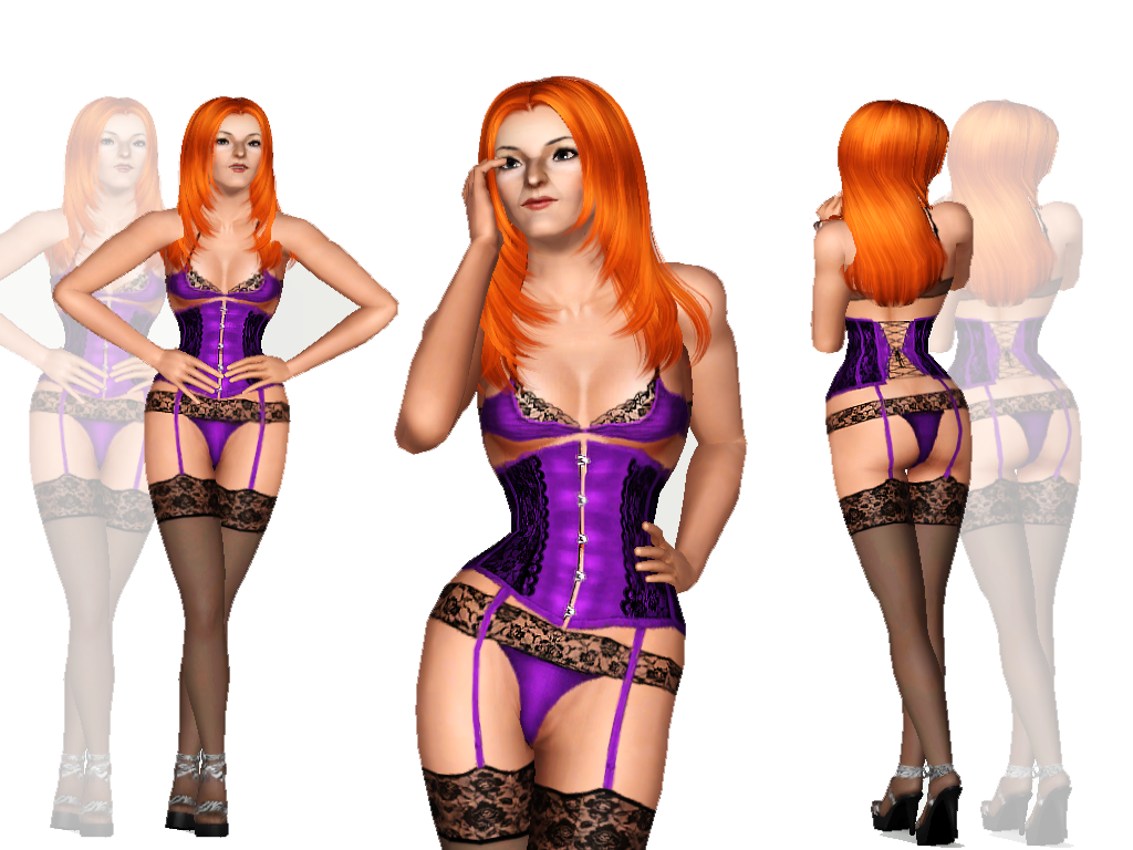 Child Toddler Empire Sims 3: Ghoulscout Lingerie Set By Wiktoria Von Frege