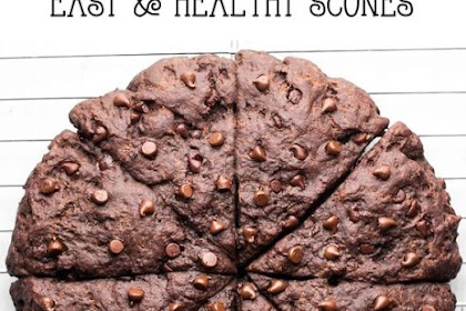 Clean Triple Chocolate Scones