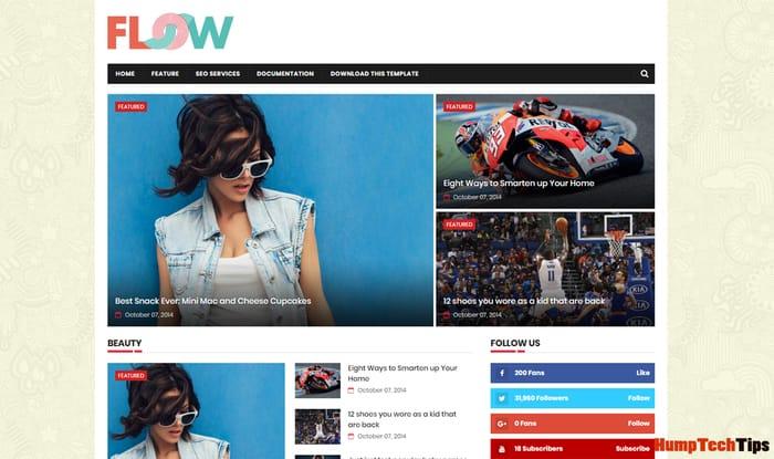 Flow Magazine Responsive Blogger Template