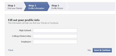 create your facebook profile