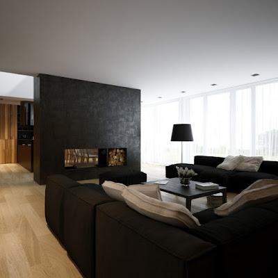 Design de interiores Decorar em preto e branco