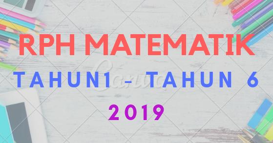Download Muat Turun Rph Matematik Tahun 1 Tahun 6 2019 Munaz Bagus