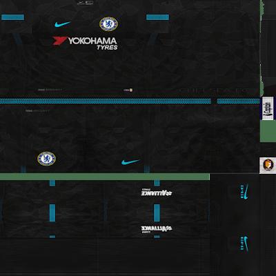PES 6 Manchester City, Chelsea e CSKA Moscou 2017/18 GDB Kits Fix [Adicionado Terceiro Kits]