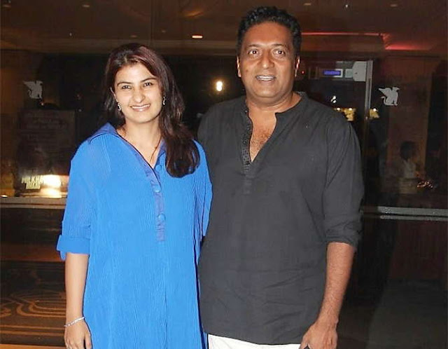 Prakash Raj with wife