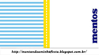 Blue and Yellow Free Printable  Mentos Labels.