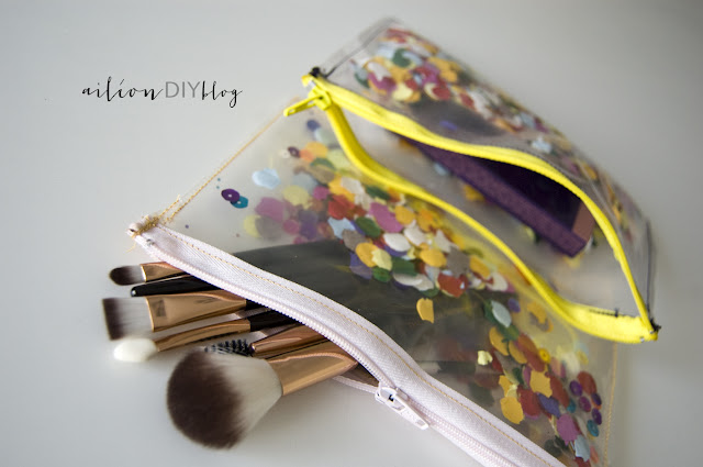 confetti bag case diy
