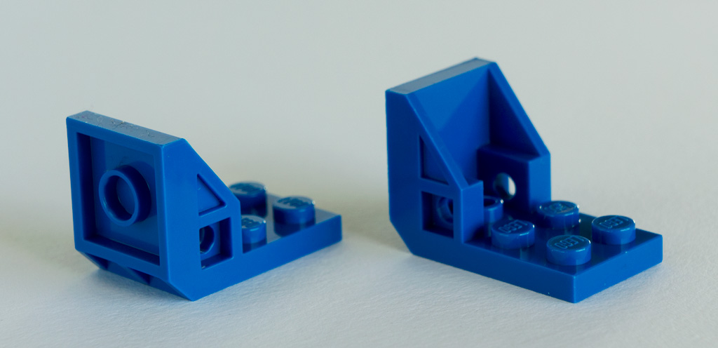 Lego Blue Bracket 3x2-2x2 2 pieces  NEW! Space Seat