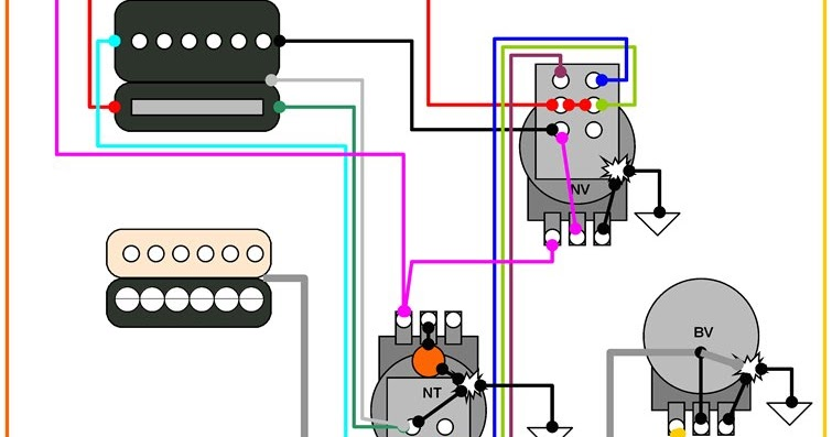 hermetico guitar wiring diagram lp 1 prail 4 sounds. Black Bedroom Furniture Sets. Home Design Ideas