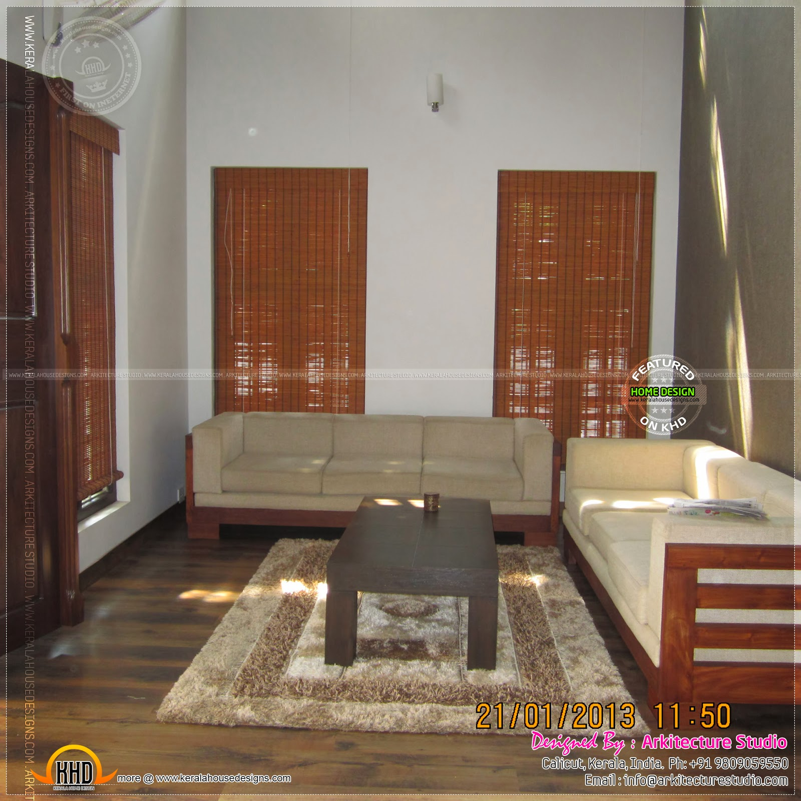 Kerala Home Interior Design: Finished House With Photograph Of Interiors