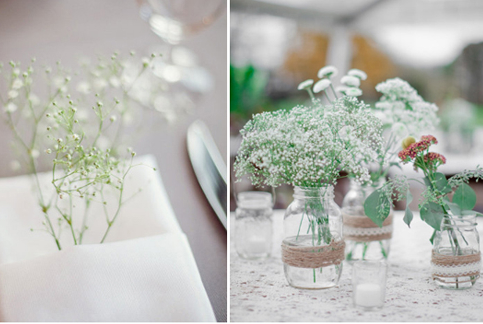 Uma Das Mais Pedidas é Utilizar As Flores Como Buquês, Fica Muito ~ Decoracao Casamento Gipsofila