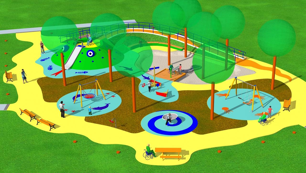un nuovo parco giochi per tutti i bambini parchi per tutti. Black Bedroom Furniture Sets. Home Design Ideas