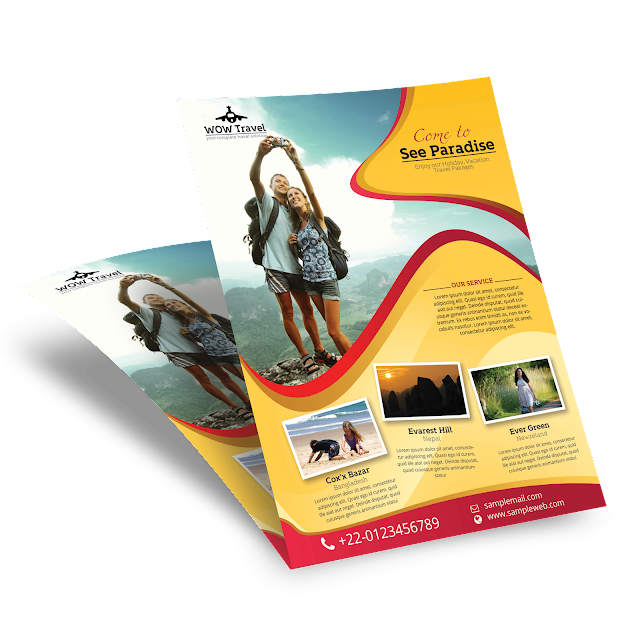 travel agency, tour, tourist, holiday, weekend, free, print, template, professional, modern, flyer design,