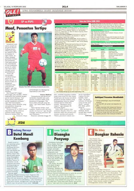 LIGA INDONESIA BANK MANDIRI 2002 SP VS PSPS