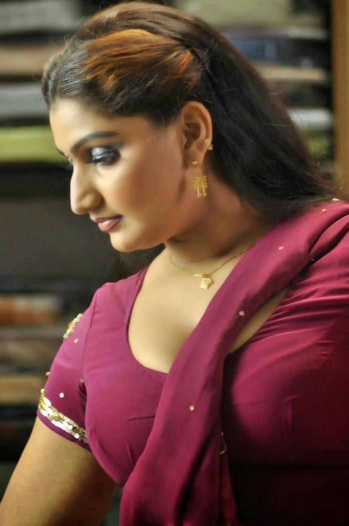 Actress Babilonia Hot Stills In Saree