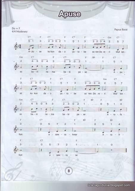 Lirik Dan Terjemahan Lagu Apuse (Dan Artinya)
