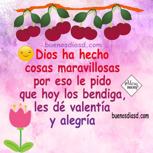 Bonitas frases de buenos días para saludos  con imágenes cristianas y lindo mensaje por Mery Bracho. Buenos deseos de feliz día para ti y para mí.