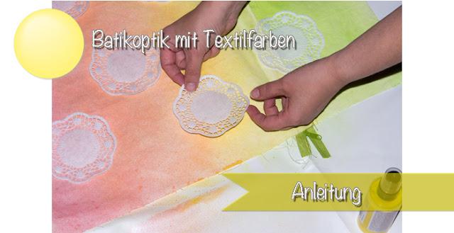 Anleitung: Stoffe im Farbverlauf färben - Batikoptik ohne umständliche Batiktechnick