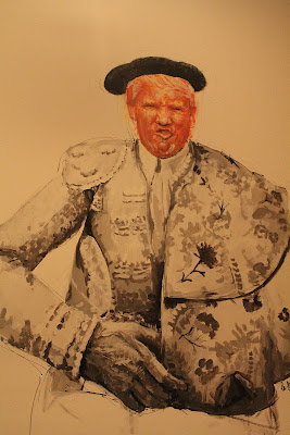 """mural"",""acrylic"",""Liquitex"",""Angelita Madrid"",""baño"",""retrato"",""donald Trump"",""protrait"",""pintura"",""paint"",""arte"",""art"",""Madrid"",""torero"",""Manolete"",""Bullfighter"""