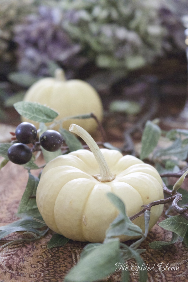 Pumpkins and Olive Branches- Creating a Mix-and-Match Thanksgiving Table- www.gildedbloom.com