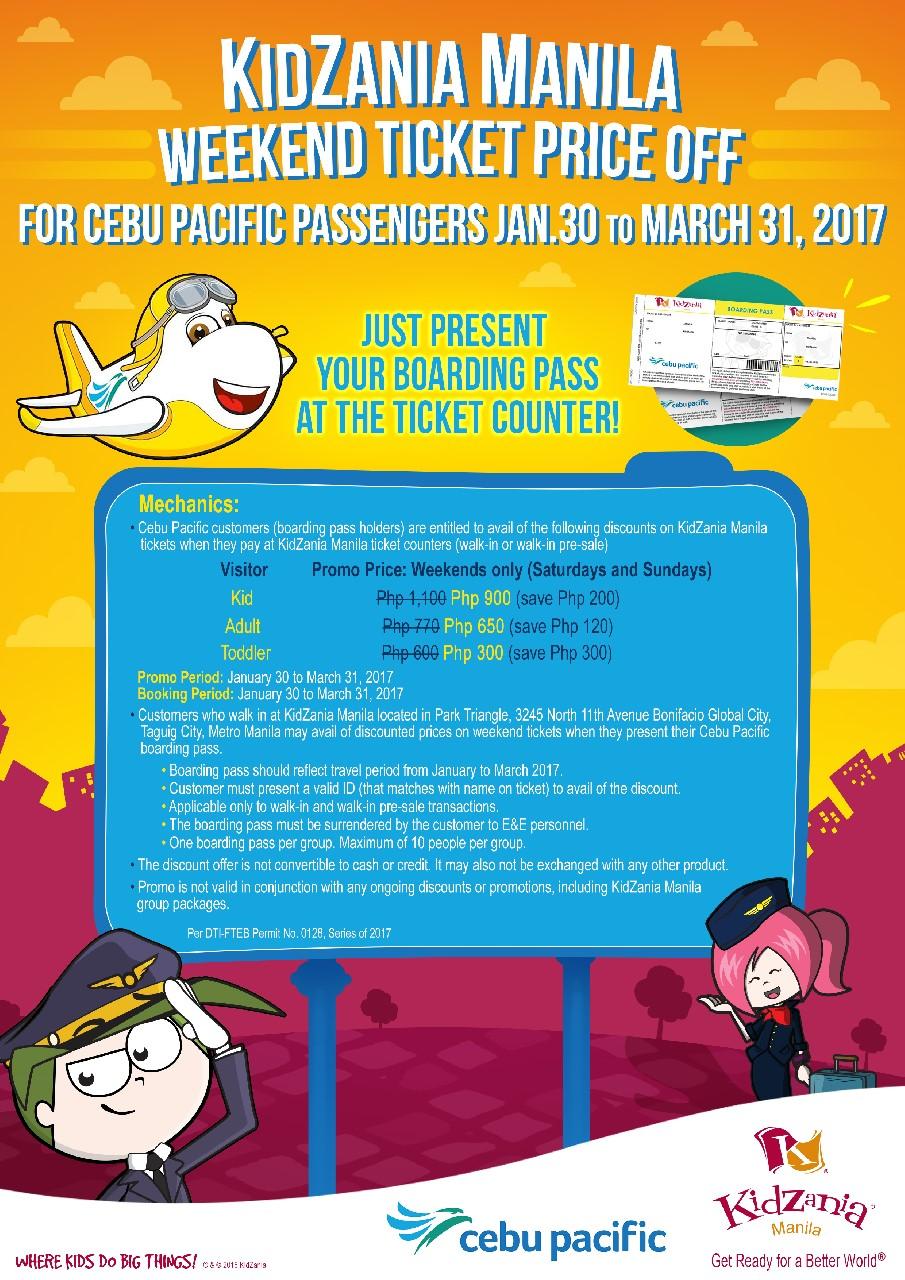Manila Shopper KidZania x Cebu Pacific Promo JanMarch 2017