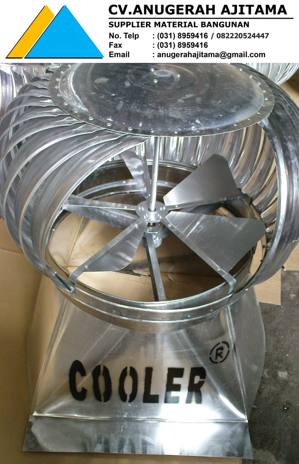 TURBINE VENTILATOR COOLER