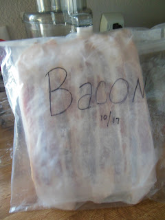 Keep bacon safe from molding, with storage in the freezer. Perfect for smaller families.