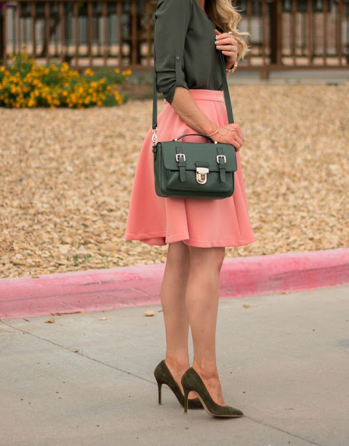 Olive & Coral outfit ideas