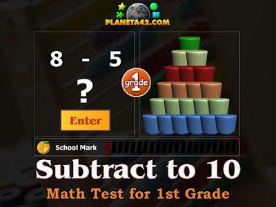 Тест по Математика за 1 Клас - Изваждане до 10