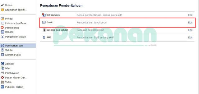 gambar Cara Terbaru Menonaktifkan Pemberitahuan Facebook di Email